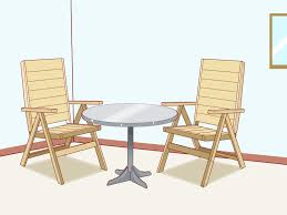 Remove Rust From Metal Furniture by How To Protect Outdoor Furniture With Pictures Wikihow