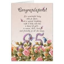 for 85th birthday greeting cards zazzle
