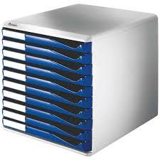 bloc de classement bureau module de classement 10 tiroirs gris clair bleu achat vente