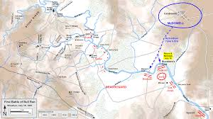 Run Map First Battle Of Bull Run Clio