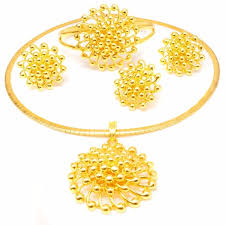 aliexpress necklace pendants images Ethiopia 24k real dubai gold jewellery set charms and pendants jpg