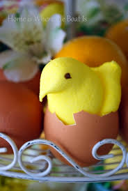 Easter Table Decorations To Buy by Garnish With Easter Peeps U2013 Home Is Where The Boat Is