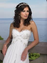 strapless ivory chiffon empire beach wedding dress sweetheart