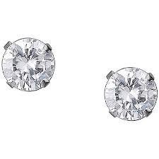 white gold stud earrings 5mm cz 10kt white gold stud earrings walmart