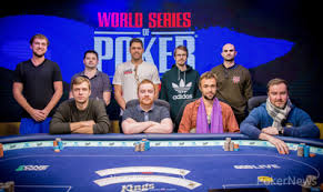2017 world series of poker final table play at the final table underway 2017 world series of poker europe