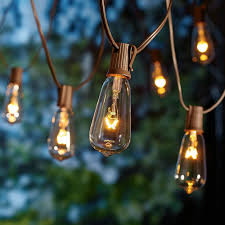 Patio Lights Walmart Better Homes And Gardens Outdoor Glass Edison String Lights 10