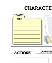character sketch notebooking pages