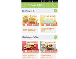 recette cuisine enfant la nouvelle application mobile la cuisine de bébé cuisine de