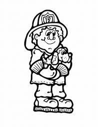 fire safety coloring pages eson me