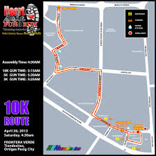 Running Map Route by Heart And Sole Fund Run Tiendesitas Pinoy Fitness