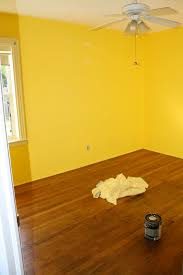 yellow walls in bedroom