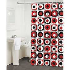 Curtains Black And Red Best 25 Red Shower Curtains Ideas On Pinterest Red Bathroom