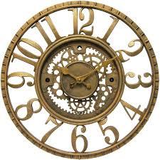 beautiful wall clock exposed gear 127 wall clock exposed gears