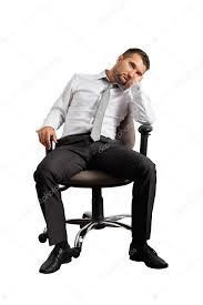 ennui au bureau homme d affaires s ennuie assis sur la chaise de bureau