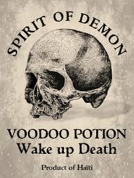 label bottle halloween apothecary woodoo potion spirit of demon