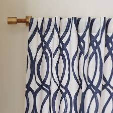 Cotton Canvas Curtains West Elm Scribble Cotton Canvas Scribble Lattice Curtains Set Of 2