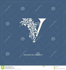 Name Style Design by Elegant Letter V Graceful Royal Style Calligraphic Beautiful