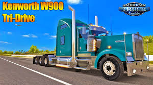 custom kenworth trucks kenworth w900 tri drive custom v1 0 by bu5ted american truck