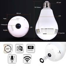 Led Wifi Light Bulb by 360 Degree Panoramic Hd Top Rated Hidden Wifi Camera Light Bulb