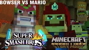 mario vs bowser super smash bros minecraft story mode episode