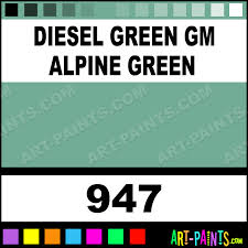 diesel green gm alpine green engine coatings spray paints 947