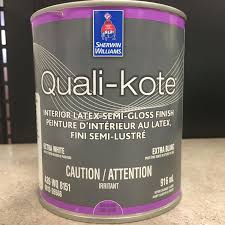 find more qualikote interior semi gloss paint can 1l quarter of a