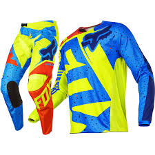 fox racing motocross gear fox 2017 kids mx new 180 nirv yellow blue jersey pant toddler
