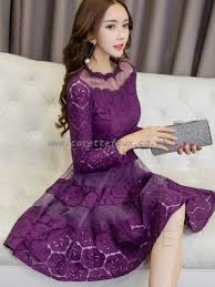 light purple lace bodycon dress womens rose red pink black yellow dresses dazzling round neck long