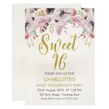 16th birthday invitations u0026 announcements zazzle