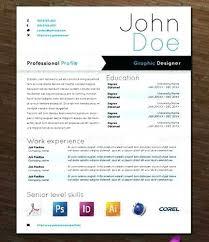 design resume template psd creative templates unique non