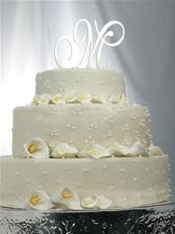 cake topper initials swarovski monogram cake top initials