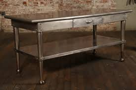 enchanting industrial kitchen table stainless steel wonderful
