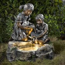 creative of outdoor fountains with lights wonderful outdoor