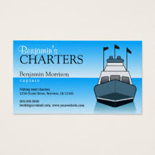 charter boat service business cards templates zazzle