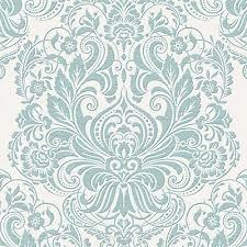 graham u0026 brown melody duck egg silver wallpaper the home depot