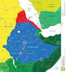 Map Of Ethiopia Ethiopia Map Royalty Free Stock Images Image 30215639