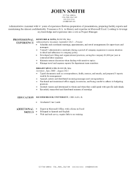 resume template administrative w experienced resumes expert preferred resume templates resume genius