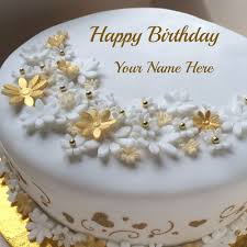 write name on flower birthday cake pictures