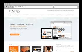 free responsive html templates pinkrio free responsive html template corporate layout