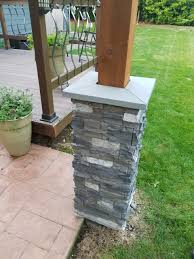 Faux Stone Column Wraps by Outdoor Structures Creative Faux Panels