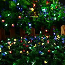 100 led waterproof solar string lights starry lighting decor