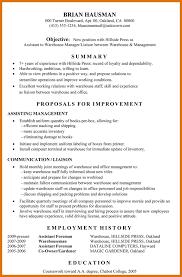 warehouse resume template modern bio resumes