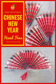 Chinese New Year Home Decoration Year Of The Rooster Free Printable Paper Hand Fans The Purple