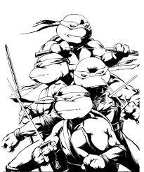 coloring pages good looking teenage mutant ninja turtles coloring