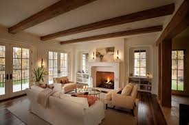 French Country Family Rooms Family Room Traditional With White And - Family room in french