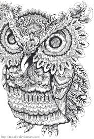 intricate owl coloring pages bing images on we heart it
