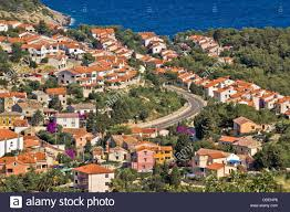 mediterranean style houses by the sea island of mali losinj