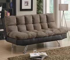 brown microfiber sofa bed contemporary brown microfiber dark brown vinyl sofa bed