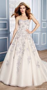 multi color wedding dress moonlight couture bridal fall 2016 strapless sweetheart lace aline