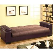 furniture brown convertible futon sofa bed with storage added